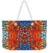 Colorful Layers Vertical - Abstract Art By Sharon Cummings Weekender Tote Bag by Sharon Cummings