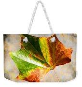 Colorful Leaf On The Ground Weekender Tote Bag