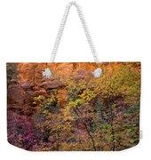 Colorful Leaves On A Tree Weekender Tote Bag