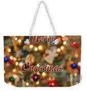 Colorful Lights Christmas Card Weekender Tote Bag