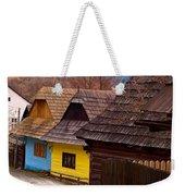 Colorful Log Homes Weekender Tote Bag