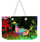 Colorful Lucy Goosey Weekender Tote Bag