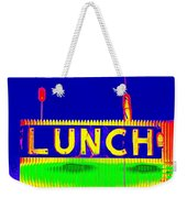 Colorful Lunch Weekender Tote Bag