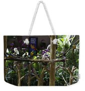 Colorful Macaw And Other Birds At The Jurong Bird Park In Singapore Weekender Tote Bag