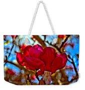 Colorful Magnolia Blossom Weekender Tote Bag