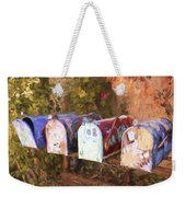 Colorful Mailboxes Santa Fe Painterly Effect Weekender Tote Bag