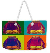 Colorful Mercedes Benz 300 Sl Convertible Popart Weekender Tote Bag