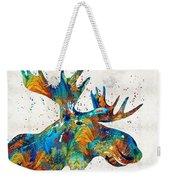 Colorful Moose Art - Confetti - By Sharon Cummings Weekender Tote Bag