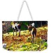 Colorful Moose Weekender Tote Bag