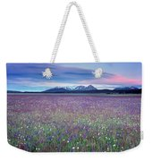 Colorful Mountain Spring Weekender Tote Bag