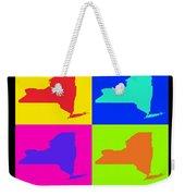 Colorful New York State Pop Art Map Weekender Tote Bag