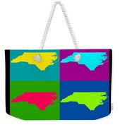 Colorful North Carolina Pop Art Map Weekender Tote Bag