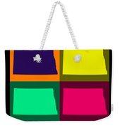 Colorful North Dakota Pop Art Map Weekender Tote Bag