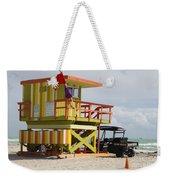Colorful Ocean Rescue Miami Weekender Tote Bag