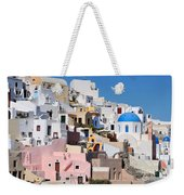 Colorful  Oia Weekender Tote Bag