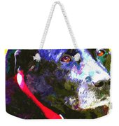 Colorful Old Dog Weekender Tote Bag
