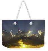 Colorful Orange Yellow Clouds At Sunset Panorama Fine Art Print Weekender Tote Bag