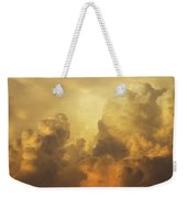 Colorful Orange Yellow Storm Clouds At Sunset  Weekender Tote Bag