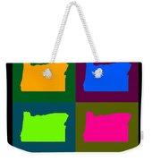 Colorful Oregon Pop Art Map Weekender Tote Bag