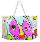 colorful Owl Weekender Tote Bag