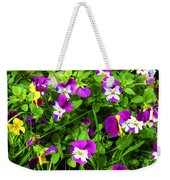 Colorful Pansies Weekender Tote Bag
