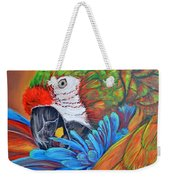 Colorful Parrot Weekender Tote Bag