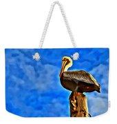 Colorful Pelican Weekender Tote Bag