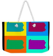 Colorful Pennsylvania Pop Art Map Weekender Tote Bag