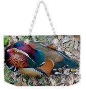 Colorful Plume Weekender Tote Bag