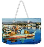 Colorful Boats Weekender Tote Bag