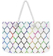 Colorful Quatrefoil Weekender Tote Bag