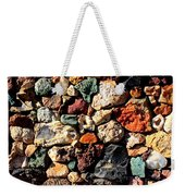 Colorful Rock Wall With Border Weekender Tote Bag