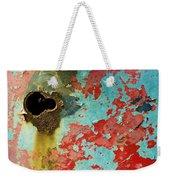 Colorful Rusty Door Weekender Tote Bag