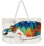 Colorful Sea Turtle By Sharon Cummings Weekender Tote Bag