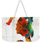 Colorful Seahorse Art By Sharon Cummings Weekender Tote Bag