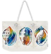 Colorful Seashell Art - Beach Trio - By Sharon Cummings Weekender Tote Bag