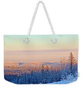 Colorful Snow Valley Weekender Tote Bag