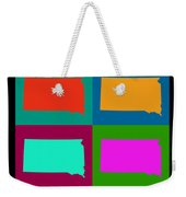 Colorful South Dakota Pop Art Map Weekender Tote Bag