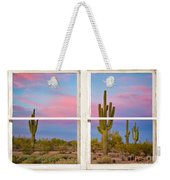 Colorful Southwest Desert Window Art View Weekender Tote Bag