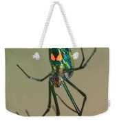 Colorful Spider In The Swamp Weekender Tote Bag