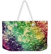Colorful Splashing Pouring Water With Bubbles Weekender Tote Bag