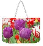 Colorful Spring Tulips Garden Art Prints Weekender Tote Bag