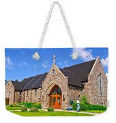 Colorful Stone Catholic Church In North Bay Of Lake Nipissing-on Weekender Tote Bag