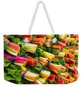 Colorful Swiss Chard Weekender Tote Bag