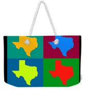 Colorful Texas Pop Art Map Weekender Tote Bag