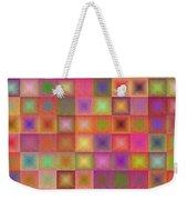 Colorful Textured Squares Weekender Tote Bag