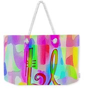 Colorful Texturized Alphabet Ll Weekender Tote Bag