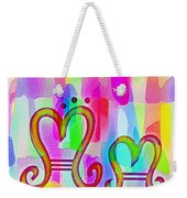 Colorful Texturized Alphabet Mm Weekender Tote Bag