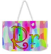 Colorful Texturized Alphabet Rr Weekender Tote Bag