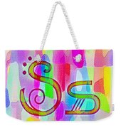 Colorful Texturized Alphabet Ss Weekender Tote Bag